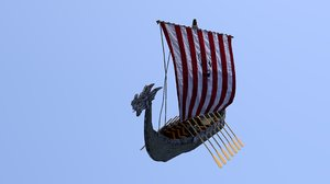 viking boat 3D model