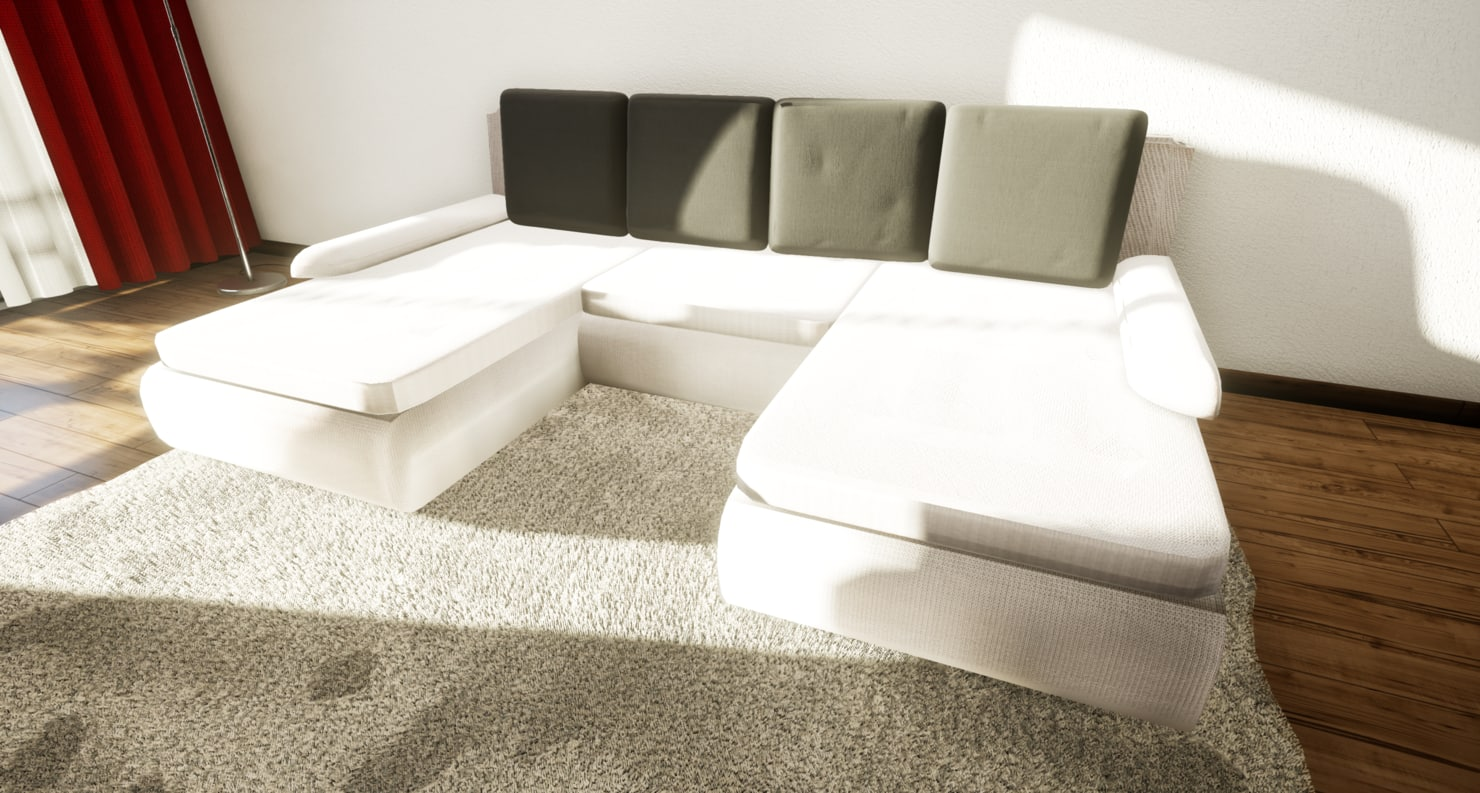 3D model modern couch