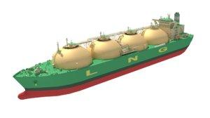 3D lng tanker model