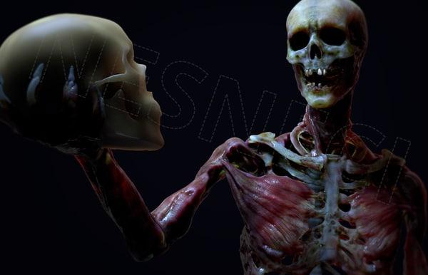 zombie skeleton 4k rig 3D