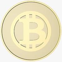 3D model bitcoin coin