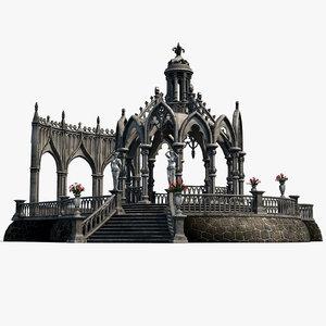 3D gothic pavilion 02 build model