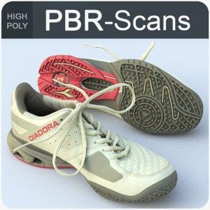 3D model sneaker scans
