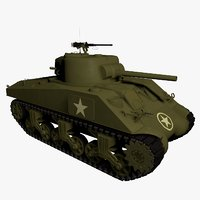 WWII M4A3 Medium Sherman Tank