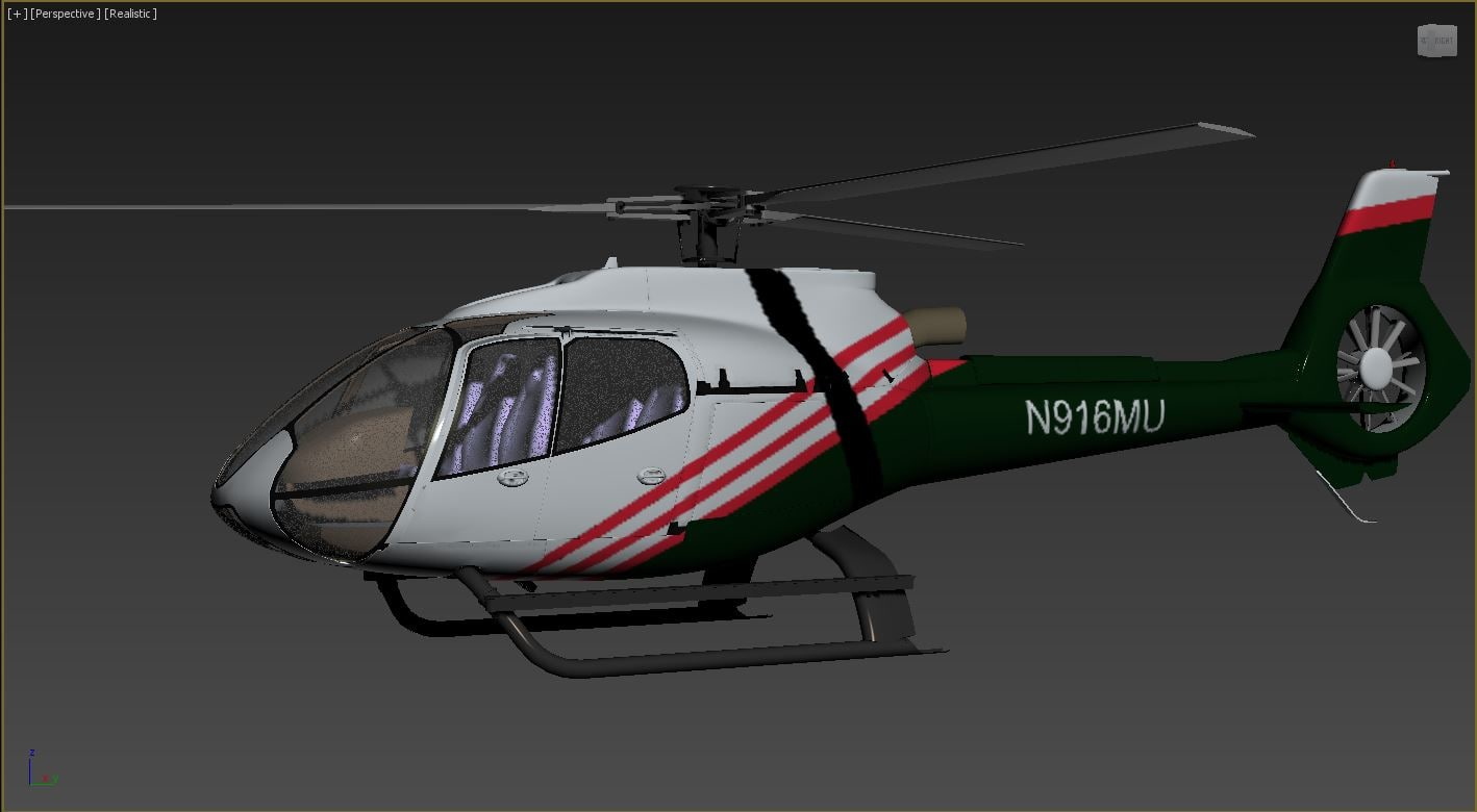 fighter helicopter 3D model