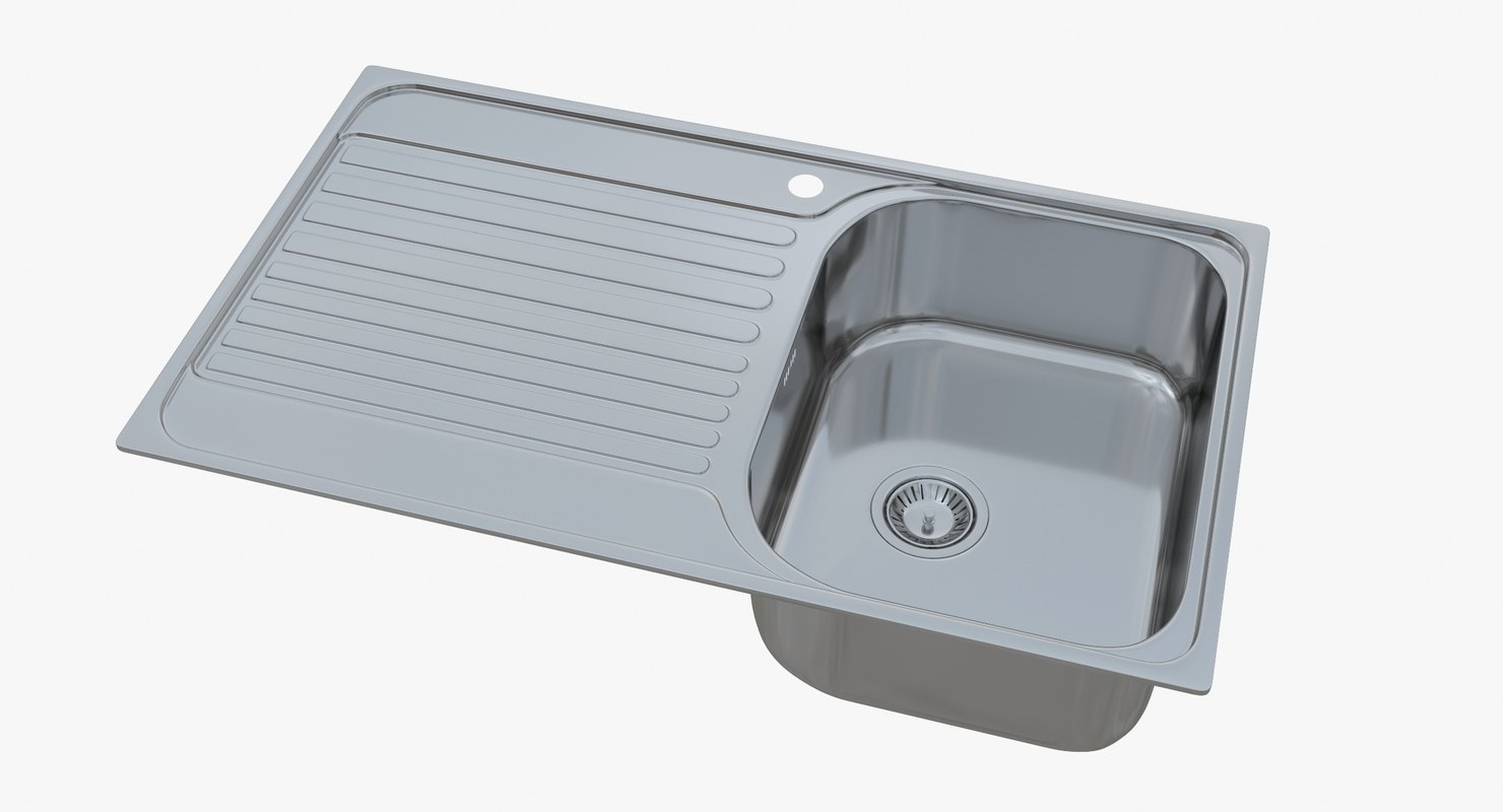 sink blanco tipo 45 3D