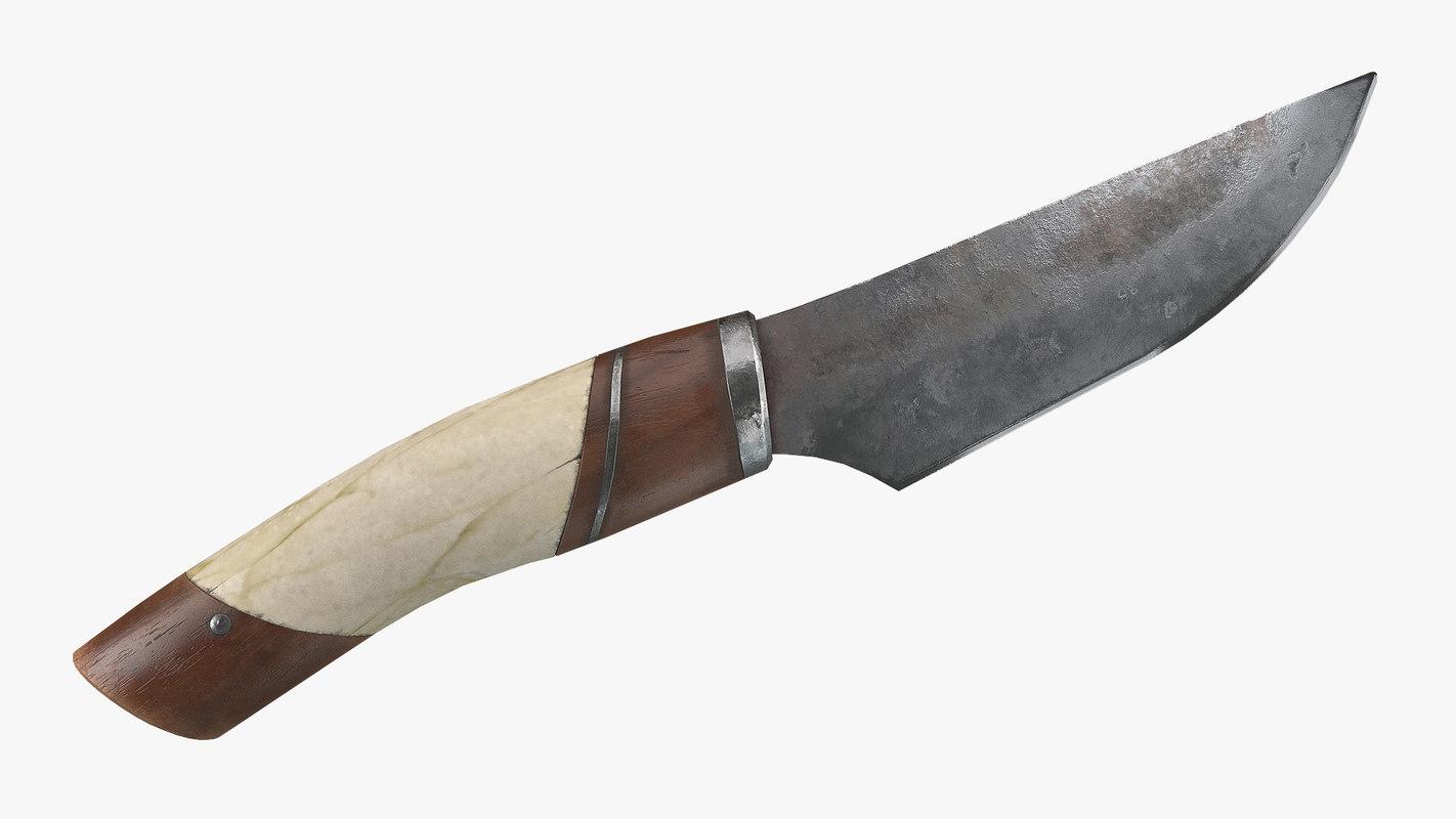 3D viking knife model