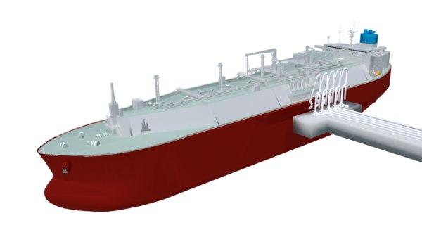 lng carrier membrane type 3D model