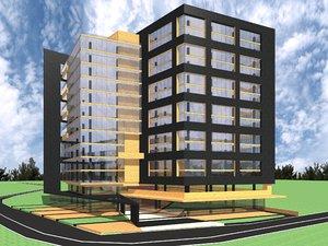 3D modern state office building model