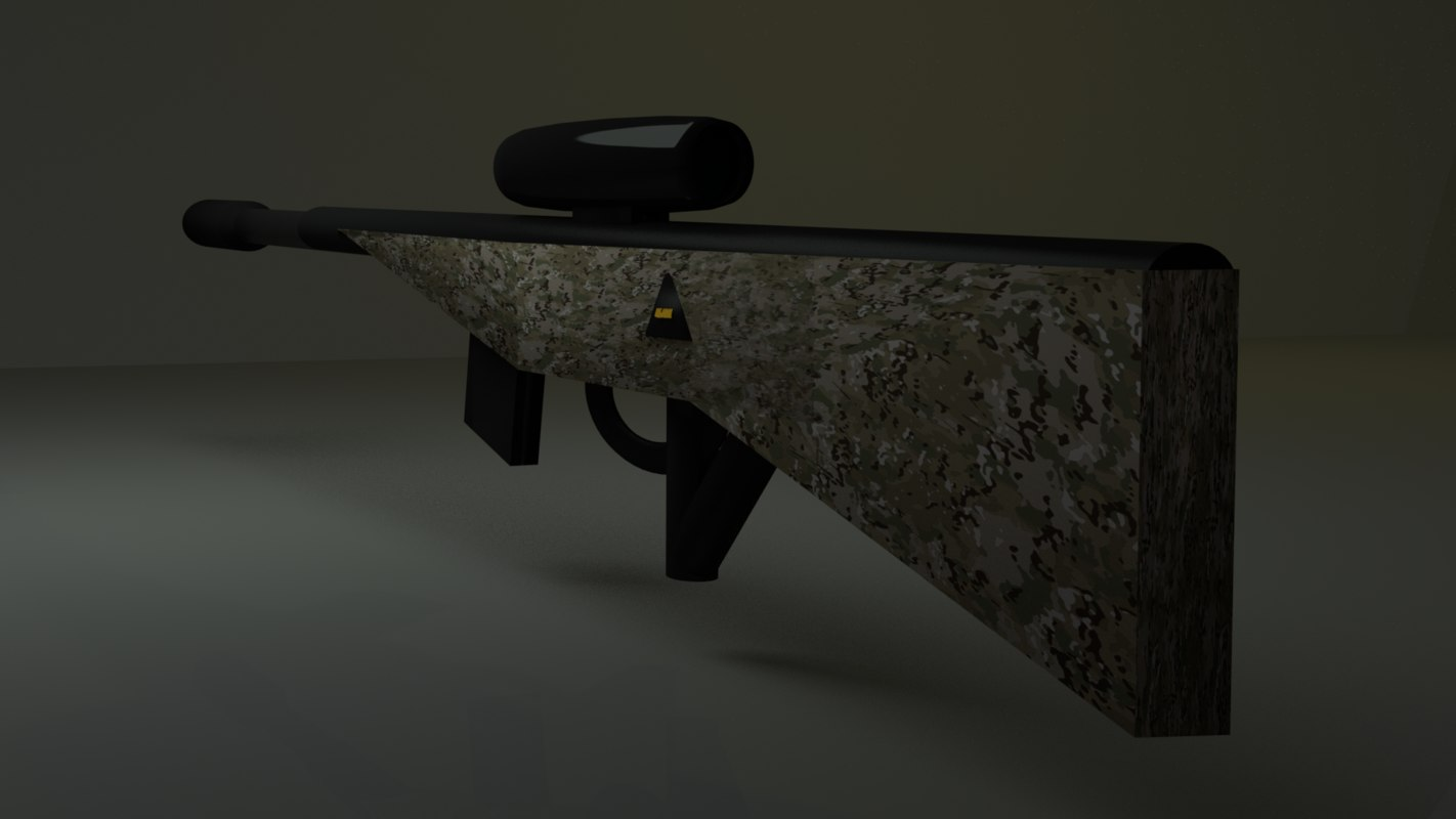 3D sniper rifle army