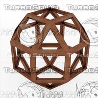 3D icofiexaedron leonardo model