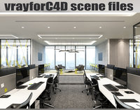 vrayforc4d files - office 3D model