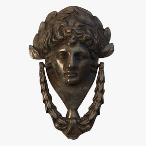 victorian door knocker head 3D model