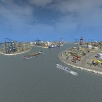 3D port complex model
