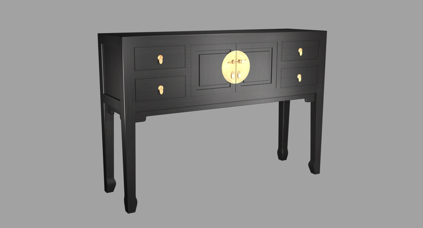 traditional japanese table 3D