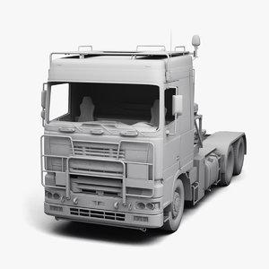 army truck daf tropco 3D model