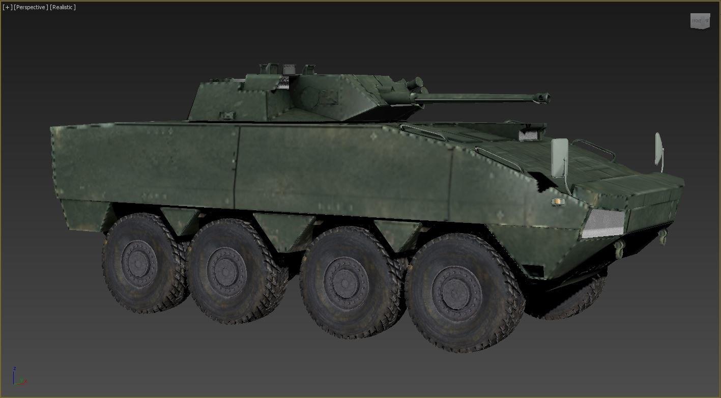 3D military armor tank