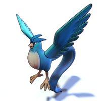 articuno pokemon 3D