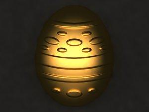 egg mold hand 3D