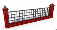 fence structure 3D model