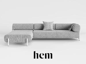 sofa cushion 3D