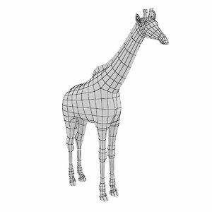 3D model mesh giraffe animal anatomy
