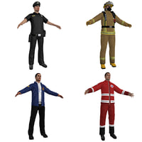 3D emergency people pack model