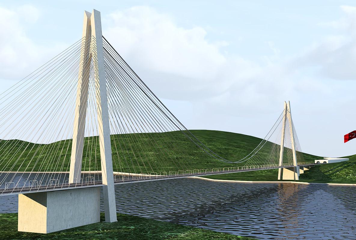 yavuz sultan selim bridge model