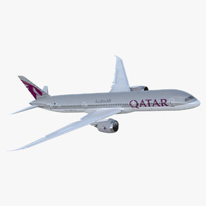 3D boeing 787-9 dreamliner qatar