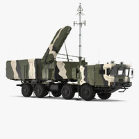 mobile radar station 96l6 3D model