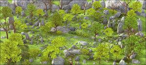 3D mountain environment nature