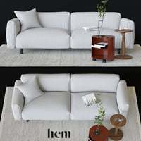 3D sofa cushion rug model