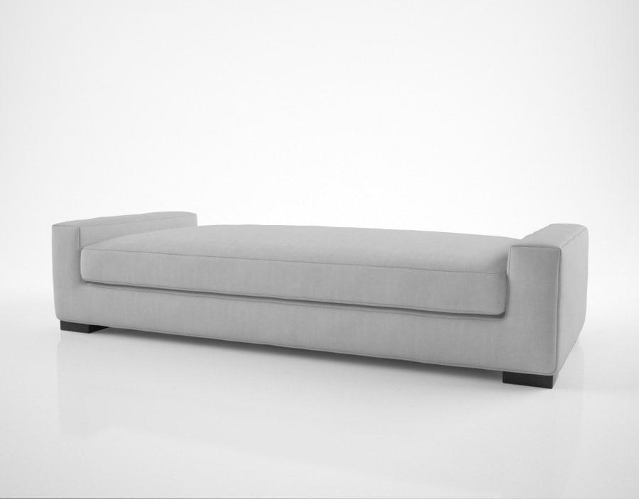modern modena bench 3D