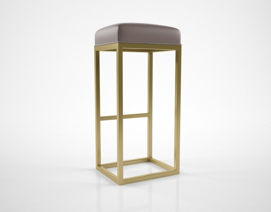 3D rhmodern reese leather bar stool