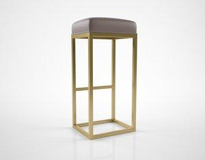 3D rhmodern reese leather bar stool