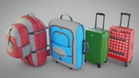 3D suitcases luggage