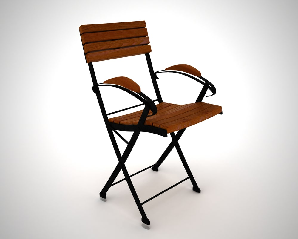 3D wooden chair 6