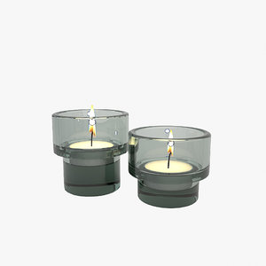 3D candles flame