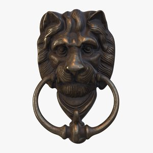 3D victorian door knocker head model