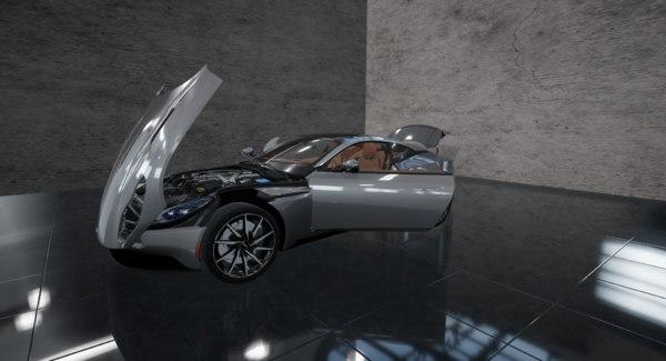 3D aston martin db11 ue4 model