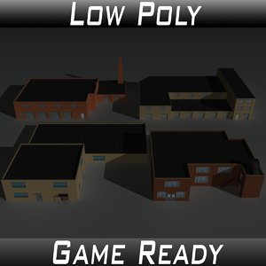 factory building set 3D model