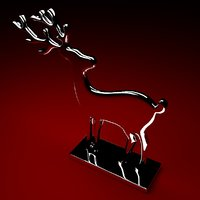 3D model steel reindeer
