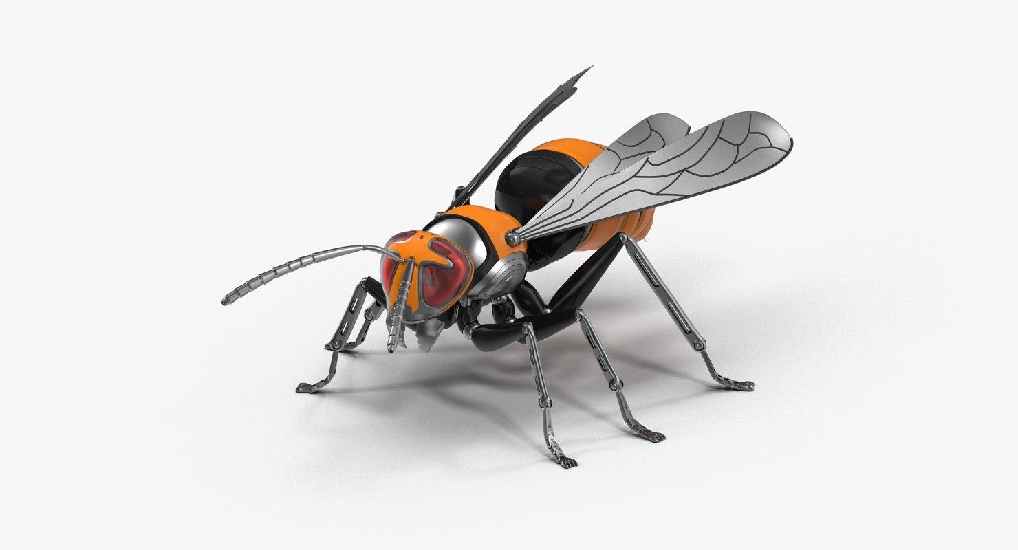 robotic wasp model