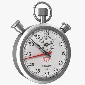 3D stop watch stopwatch model