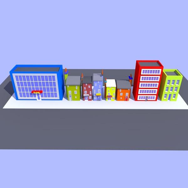 3D cartoon street 2a
