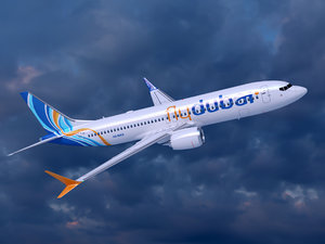 3D boeing 737-8 flydubai airlines