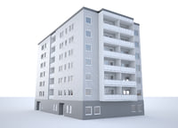 building apartment 3D