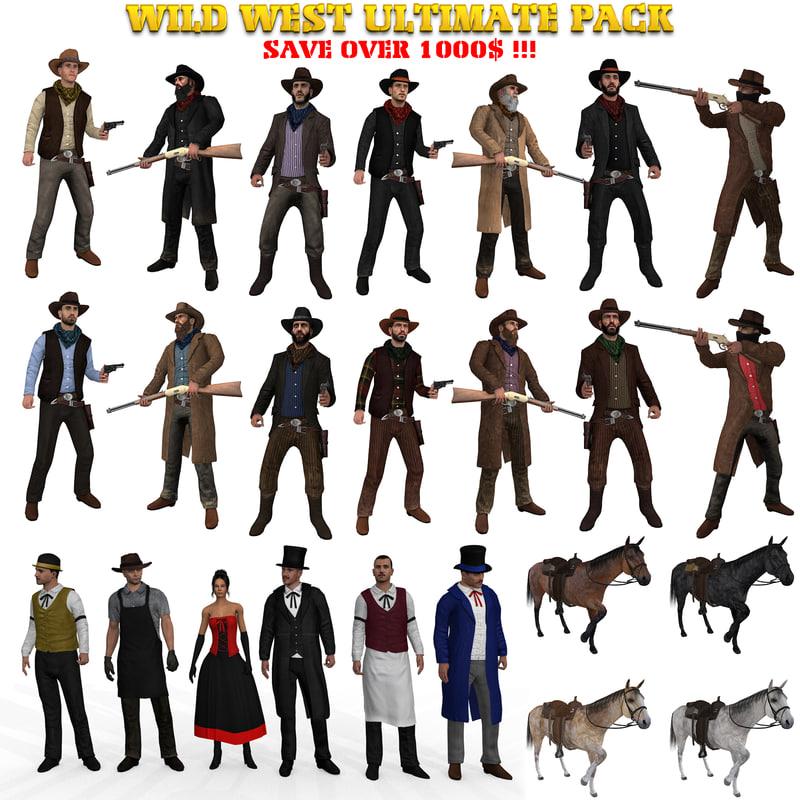 wild west ultimate pack 3D model