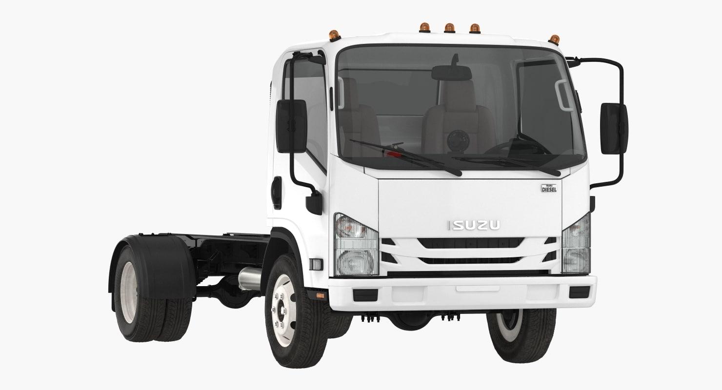 3D commercial truck isuzu npr