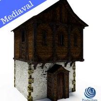 3D mediaval house model